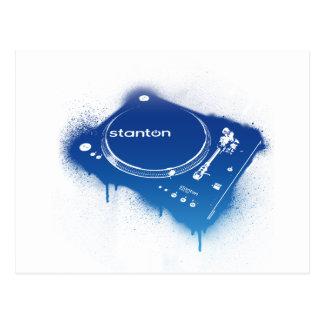 Graffiti Stanton STR8-150 - DJ Deck Turntable Post Card
