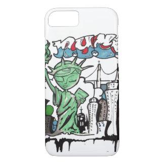 Graffiti statue of liberty iPhone 8/7 case