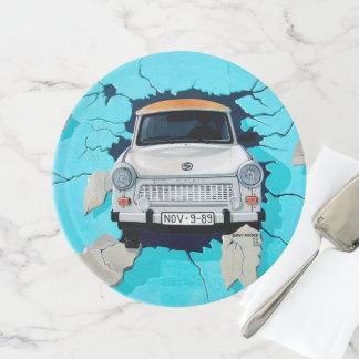 Graffiti Street Art Car Crashing 3D Cake Stand