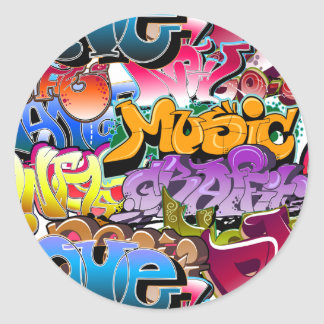 Graffiti Street Art Classic Round Sticker