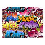 Graffiti Street Art Postcard