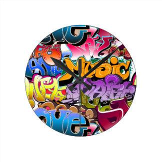 Graffiti Street Art Round Clock