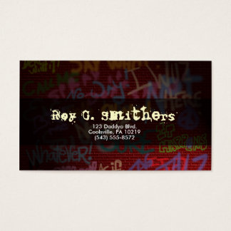 Graffiti Style Business Card