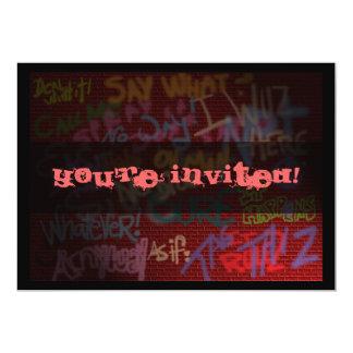 Graffiti Style Card