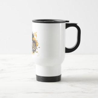 Graffiti style coffee travel mug