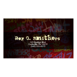 Graffiti Style Double-Sided Standard Business Cards (Pack Of 100)