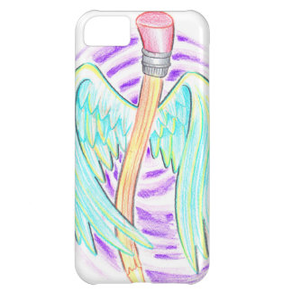 Graffiti Style Flying Pencil iPhone 5C Cover