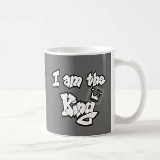 "Graffiti Style ""I am the King"" with crown Coffee Mug"