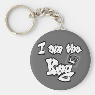 "Graffiti Style ""I am the King"" with crown Keychain"