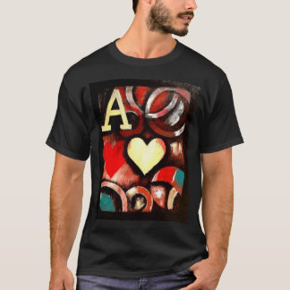 Graffiti Style Poker T shirt Ace of Hearts