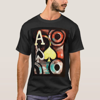 Graffiti style Poker T shirt Ace of Spades