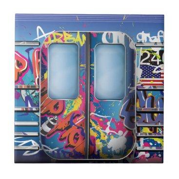 bartonleclaydesign Graffiti Subway Train. Ceramic Tile