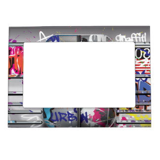 graffiti subway train magnetic photo frame