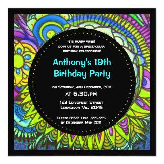 Graffiti SunBurst Birthday Invitation
