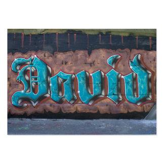 Graffiti Tag: David Large Business Cards (Pack Of 100)