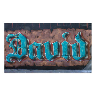 Graffiti Tag: David Double-Sided Standard Business Cards (Pack Of 100)