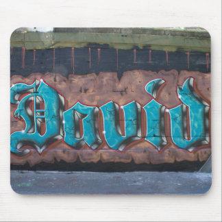 Graffiti Tag: David Mouse Pad