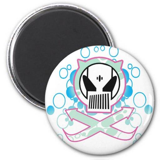 Graffiti Tech Skull Refrigerator Magnets