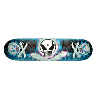 Graffiti Tech Skull Skateboard