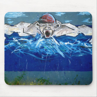 Graffiti the swimmer - mouse pads