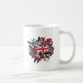 Graffiti the U.K. flag English London pop art graf Coffee Mug