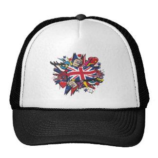 Graffiti the U.K. flag English London pop art Trucker Hat