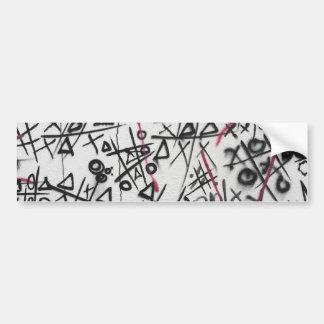 Graffiti Tic Tac Toe Bumper Sticker