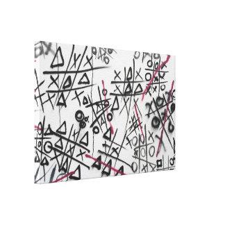 Graffiti Tic Tac Toe Canvas Print