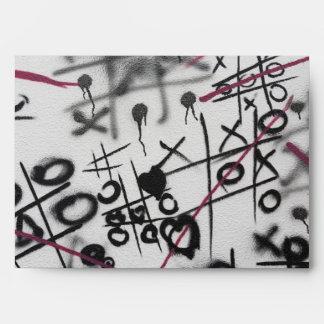 Graffiti Tic Tac Toe Envelope