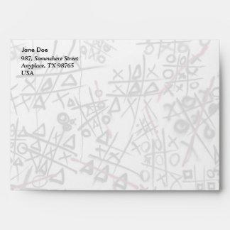 Graffiti Tic Tac Toe Envelopes