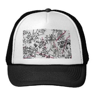 Graffiti Tic Tac Toe Mesh Hat