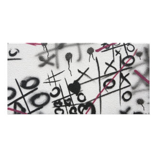 Graffiti Tic Tac Toe Photo Card