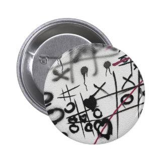 Graffiti Tic Tac Toe Pinback Button