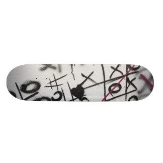Graffiti Tic Tac Toe Skateboard Deck