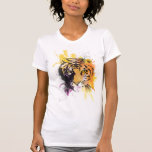Graffiti Tiger Ladies T-Shirt