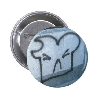 Graffiti Toast Pinback Button