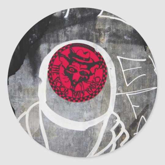 Graffiti-Toronto-Queen West Classic Round Sticker