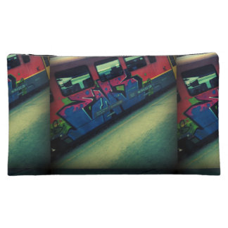Graffiti train makeup bag
