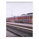 graffiti train postcards
