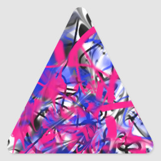 Graffiti Triangle Stickers
