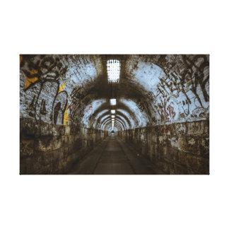 Graffiti Tunnel Urban Decay Canvas