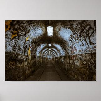 Graffiti Tunnel Urban Decay Poster