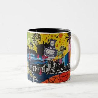 Graffiti Two-Tone Coffee Mug