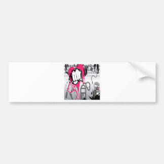 Graffiti vector art design bumper sticker