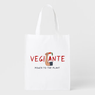Graffiti Vegilante Vegetarian Veggie Grocery Bag