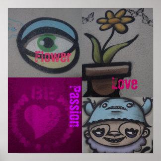 Graffiti Venice Beach Coils Passion the USA Poster