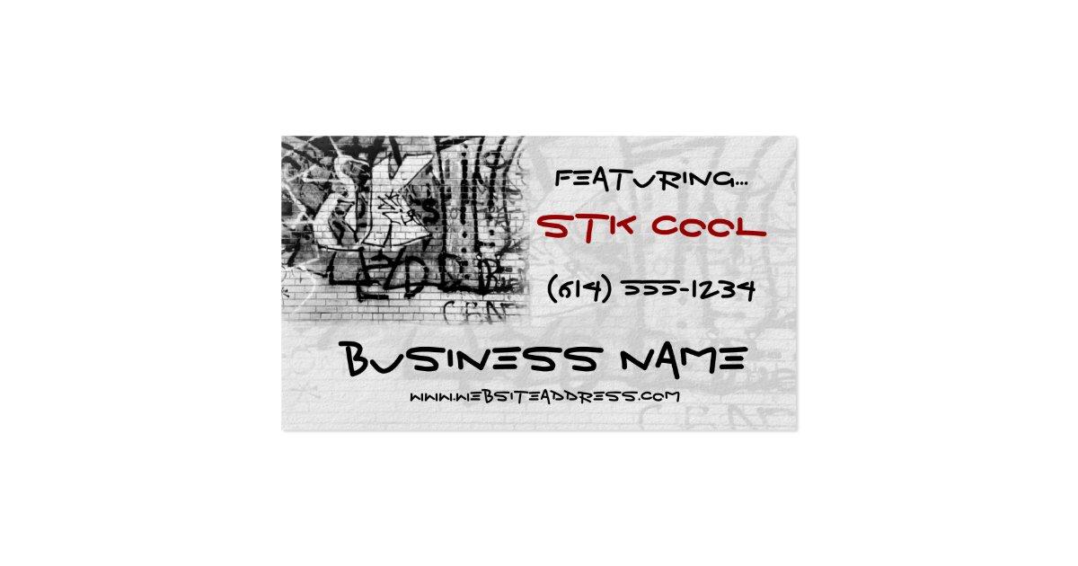 Graffiti wall art design web tshirt business card zazzle for Business cards for t shirt business