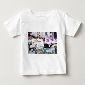 Graffiti Wall Banksy Style Torn Paper Baby T-Shirt