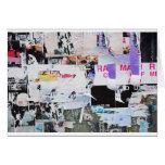 Graffiti Wall Banksy Style Torn Paper Card