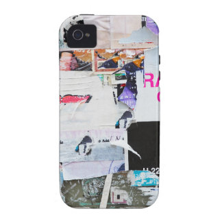 Graffiti Wall Banksy Style Torn Paper iPhone 4 Cases